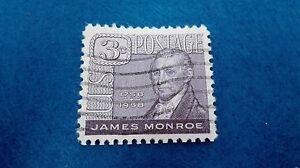 Stamp United States 3 Cents James Monroe 1958, Scott 1105. Stamp U.S.Postage