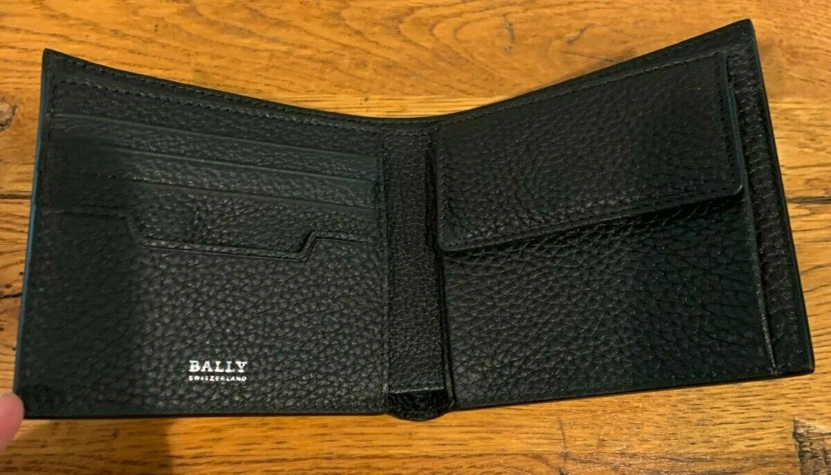 NEW with TAGS Bally Bovine Embossed Leather MYIE Wallet Chocolate NWT 901