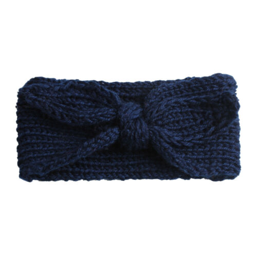 SN/_ CUTE KIDS GIRL BABY TODDLER CROCHET BOW WIDE HEADBAND HAIR BAND WINTER SUP