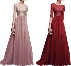 Women-Lace-Long-Maxi-Dress-Cocktail-Evening-Wedding-Party-Vintage-Formal-Dresses