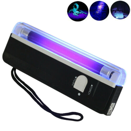 Handheld UV Purple Light Torch Portable Blacklight with LED Flashlight Lamp UK