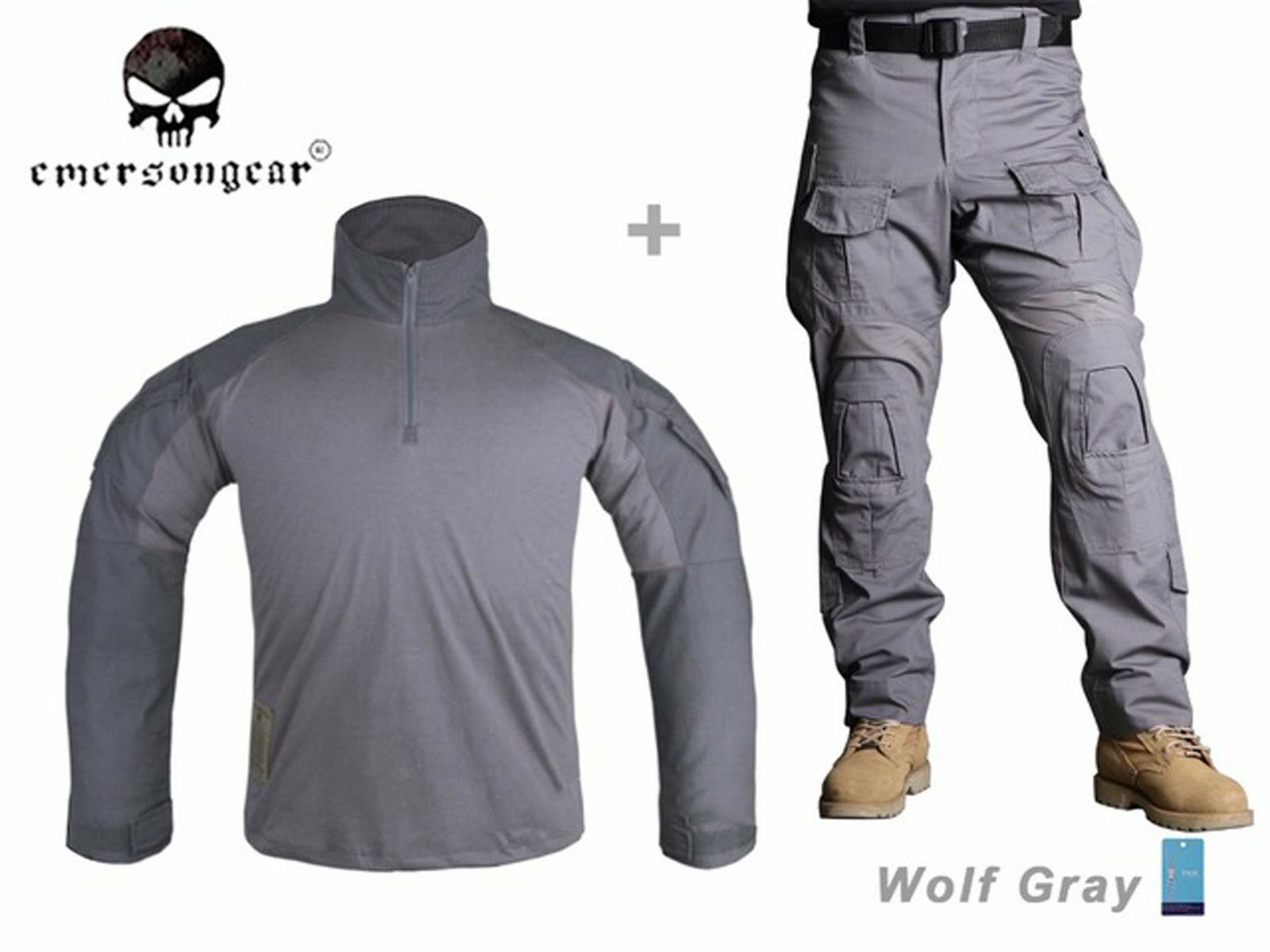 Emerson Airsoft Hunting Uniform BDU  Combat Tactical G3 Uniform and Knee Pad WG  outlet on sale