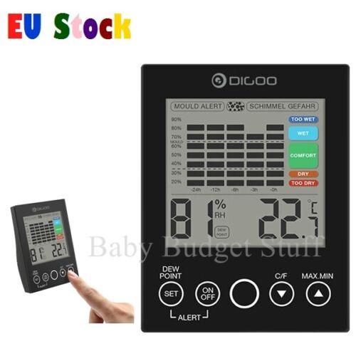 DG-TH2048 Home Comfort Indoor LED DEW Point Temperature Humidity Alert Detector