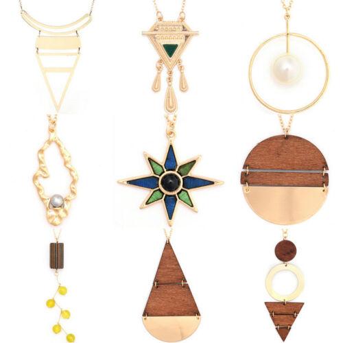 Irregular Wood Bead Drop Hip Hop Baroque Punk Baroque Pendant New Necklace