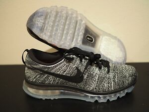Details about Nike FlyKnit Air Max Black White Oreo Running Shoes Size 8 620469 105