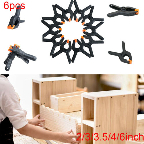 6Pcs 2//3//3.5//4//6inch Woodworking Grip Spring Clip Hard Plastic Toggle Clamps