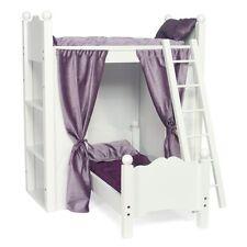 Fits American Girl Doll Loft Bunk Bed Shelves Quilted Bedding Mattresses Ladder