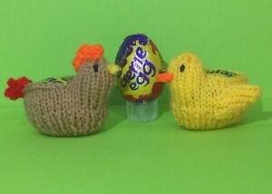 KNITTING PATTERN - Easter Hen and Chick chocolate cover ...