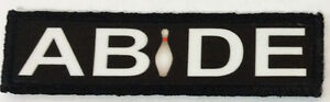 1x4-The-Dude-034-Abide-034-Morale-Patch-Tactical-ARMY-Hook-Military-Army-Flag-Funny