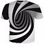 New Fashion Womens//Mens Hypnosis Funny 3D Print Casual T-Shirt UJ01