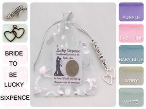 Nouvelles Mariées Mariage Lucky Sixpence Cadeau