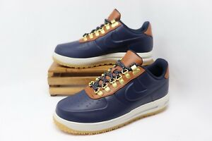 5f269a57ee60 Nike Lunar Force 1 Duckboot Low Shoes Obsidian Saddle Brown AA1125 ...