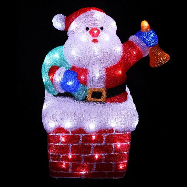 LED Santa Claus Figur aus Acryl 96 LEDs