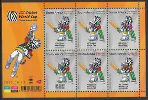SOUTH AFRICA 2002 ICC CRICKET WORLD CUP Sheet No 2  MNH