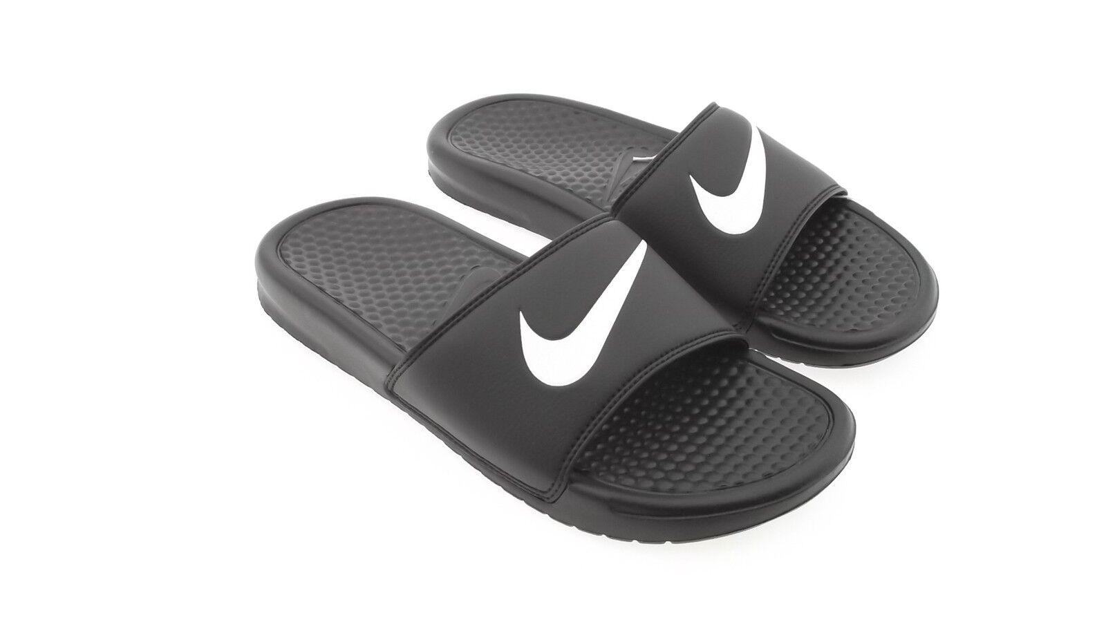 312618-011 Nike / Men Benassi Swoosh (black / Nike white) 3944de