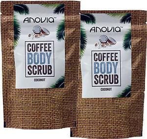 Anovia Cocco Caffè Scrub per il Corpo 150g x 2 Doppio Confezione- Robusta