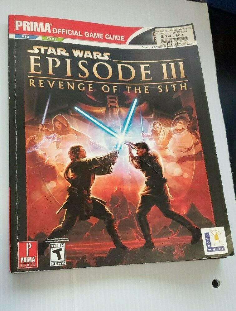 Star Wars Episode Iii Revenge Of The Sith Prima Offical Game Guide For Sale Online