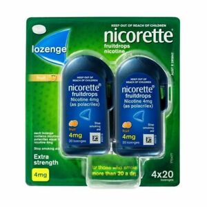 Nicorette-4mg-Extra-Strength-Fruit-Drop-4-x-20-Lozenges-Pack-Nicotine-QUIT-SMOKE