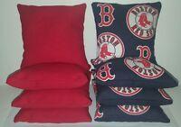 Set Of 8 Boston Red Sox Cornhole Bean Bags Free Shipping