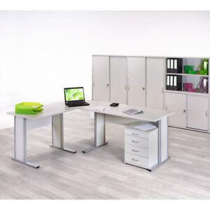 Büromöbel Stand Container Höhenverstellung Buche Nb.