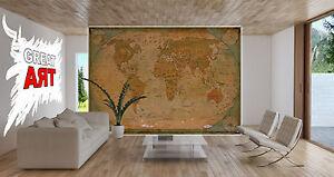 Atlas-Globus-Weltkarte-XXL-Fototapete-Wohnzimmer-Wanddekoration