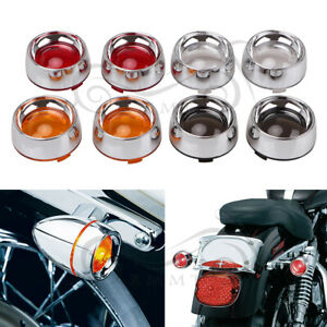 DEUCE STYLE TURN SIGNAL LENSES HARLEY SOFTAIL SPORTSTER TOURING DYNA