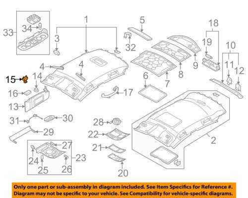 AUDI OEM 09-11 A6 Quattro Interior-Roof-Visor Bracket 4F0857561Y22