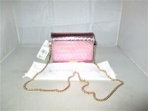 2e4cd8b786fc7b Image is loading Michael-Kors-Jade-Gusset-MD-Embossed-Leather-Clutch-