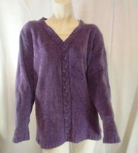 Bobbie-Brooks-Womens-Purple-Plus-Sized-Sweater-Extra-Large-18W
