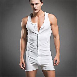 Homme Sexy Dormant Vêtement Coton Pyjama