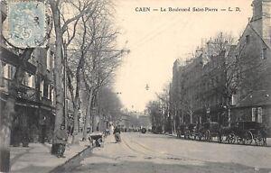 CPA-14-CAEN-LE-BOULEVARD-SAINT-PIERRE