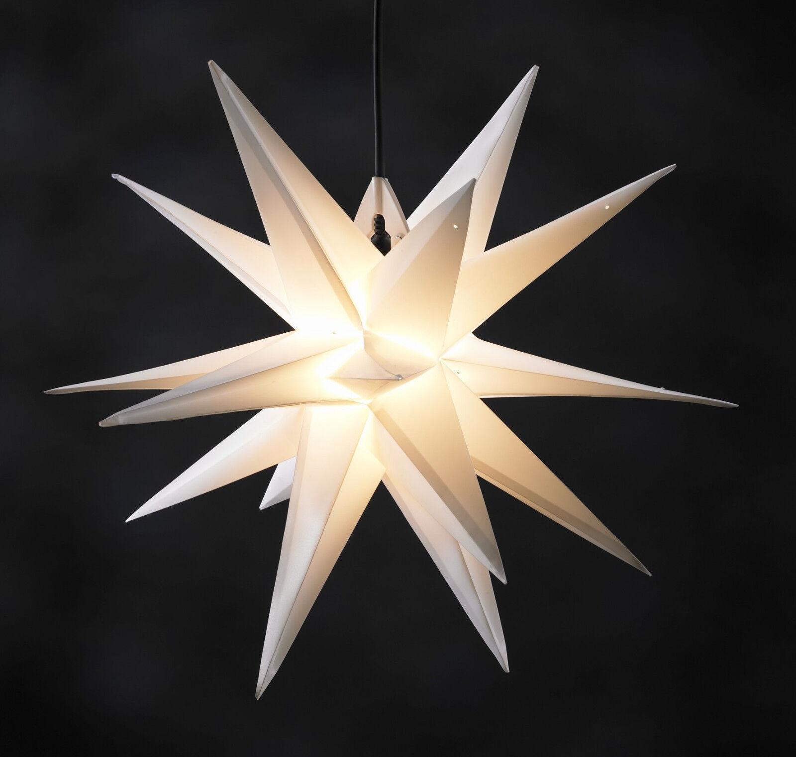 3D Außenstern Weihnachtsstern Advent Advent Advent Leucht Stern Outdoor weiß 100 cm 3202a9