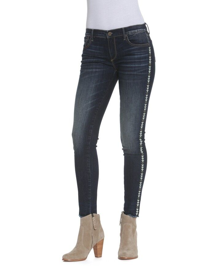 Free People Driftwood  Marilyn Jeans distressed skinny Denim Women Size 26