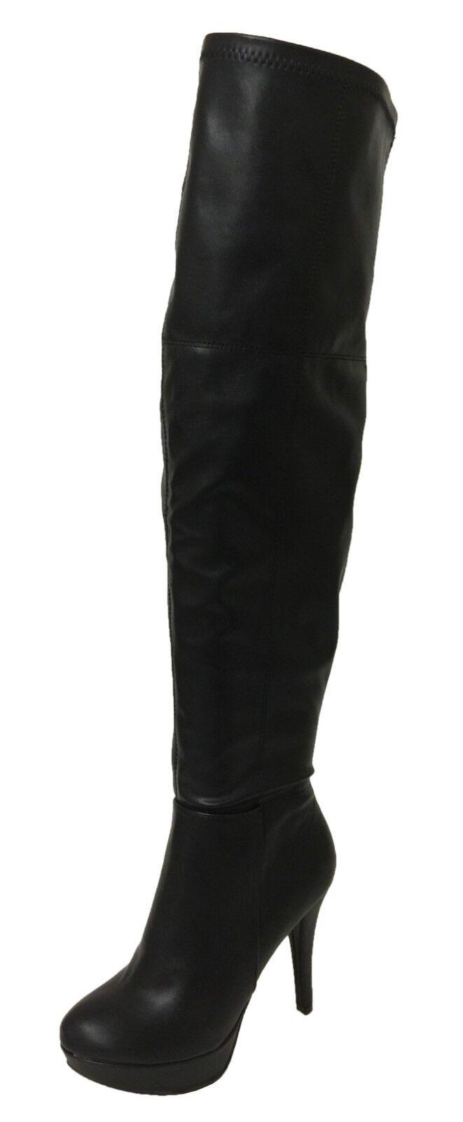 Delicious SEMRA  Women's Sexy OTK Thigh High Heel Stiletto Platform Boots