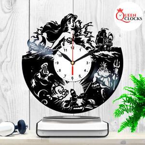 Disney The Little Mermaid Vinyl Record Wall Clock Room Decor Idea