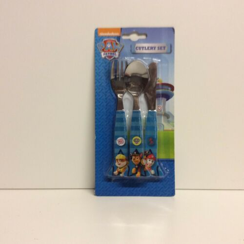 3 METAL PIECE CUTLERY SET CHILDRENS T.V FILM  VARIOUS CHARACTERS
