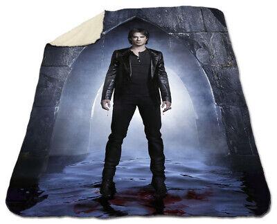 """Ian Somerhalder Winter Blanket 60 /""""x 80/"""" Queen Size NEW Soft The Vampire Diaries"""