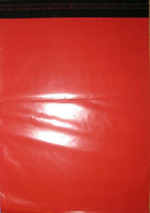50-Red-Mailing-Courier-Bags-250x350mm-10x14-034-Free-P-amp-P