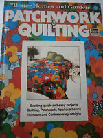 1977 Patchwork & Quilting Pattern Book Log Cabin Lone Star Star of Bethlehem