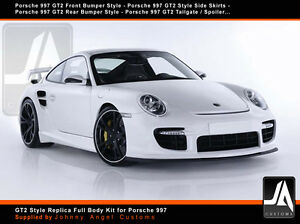 gt2 style replica full body kit for porsche 997 ebay. Black Bedroom Furniture Sets. Home Design Ideas