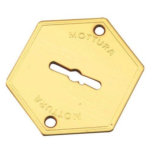 Hubcap MOTTURA Series 95 95.147//4 for Double Map Nozzle Polished Brass Door