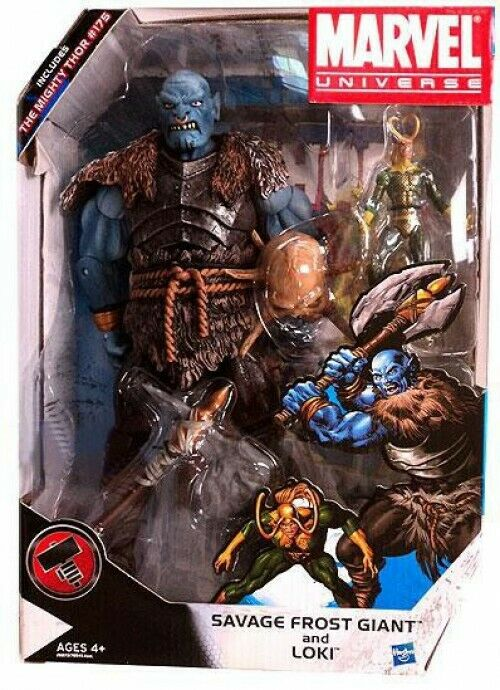 Marvel Universe Savage Savage Savage Frost Giant and Loki Exclusive Action Figure Set b21ffb