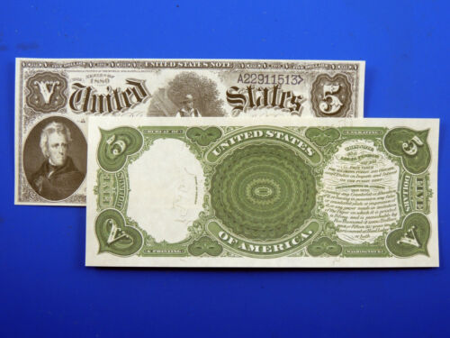 Reproduction $5 1880 Legal Tender Note US Paper Money Currency Copy