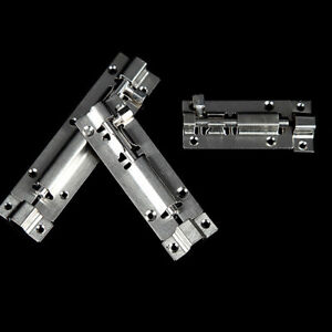 Details about 1Pc Slide Bolt Gate Latch Heavy Duty Safety Stainless Steel  Door Lock Gate Latch