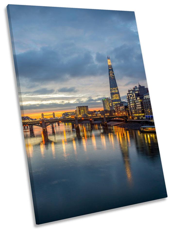London City City City Skyline il frammento Tramonto Tela Incorniciato Wall Art Print PICTURE aaa332