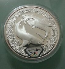 Willie: Australia 2000 Olympic 5 Dollar Silver Proof Shark