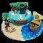 thumbnail 2 - Plastic-Palm-Tree-Cake-Topper-Beach-Cake-Hawaii-Aloha-Moana-Party
