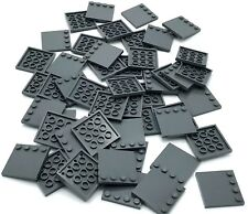 LEGO 8 x Fliese neues dunkelgrau Dark Bluish Gray Tile Modified 4x4 Studs 6179