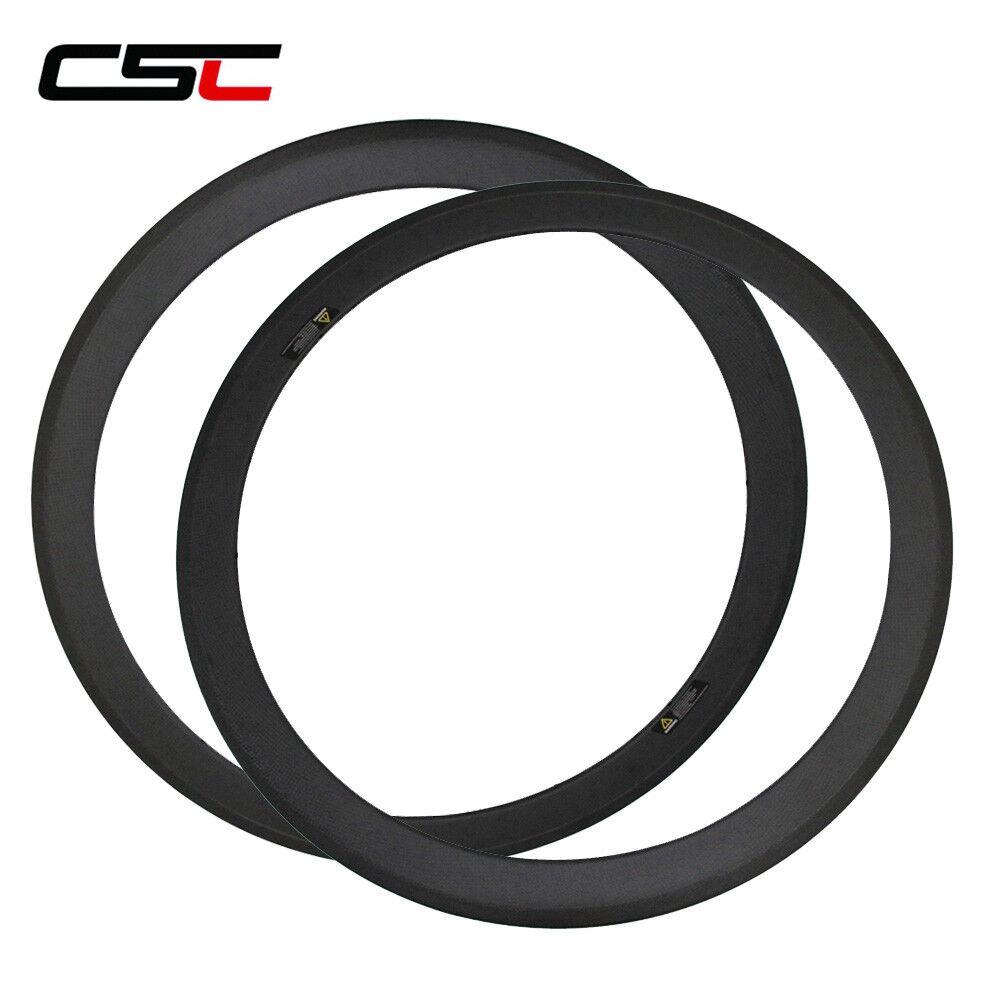 CSC 650C 50mm clincher carbon fiber bicycle rim 3k matte glossy