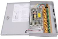 12v Dc Professional 9 Channel 16a Cctv Camera Power Supply With Ptc Fuse